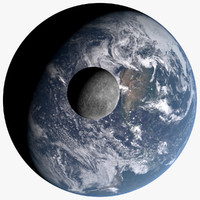earth 21k moon 10k 3d lwo