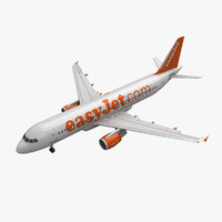 airbus a320 easyjet animation 3d model