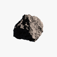 3d model visuals asteroid rock