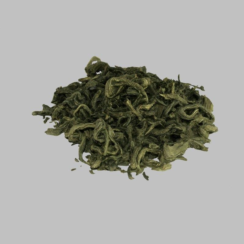 green tea leaves 3d max