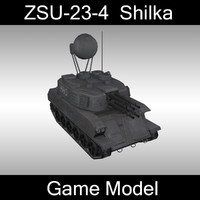 ZSU-23-4 Shilka Game model