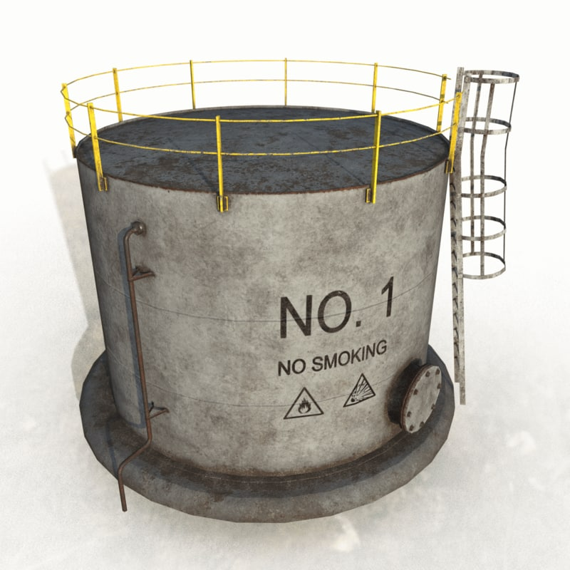 industrial oil tank 3ds