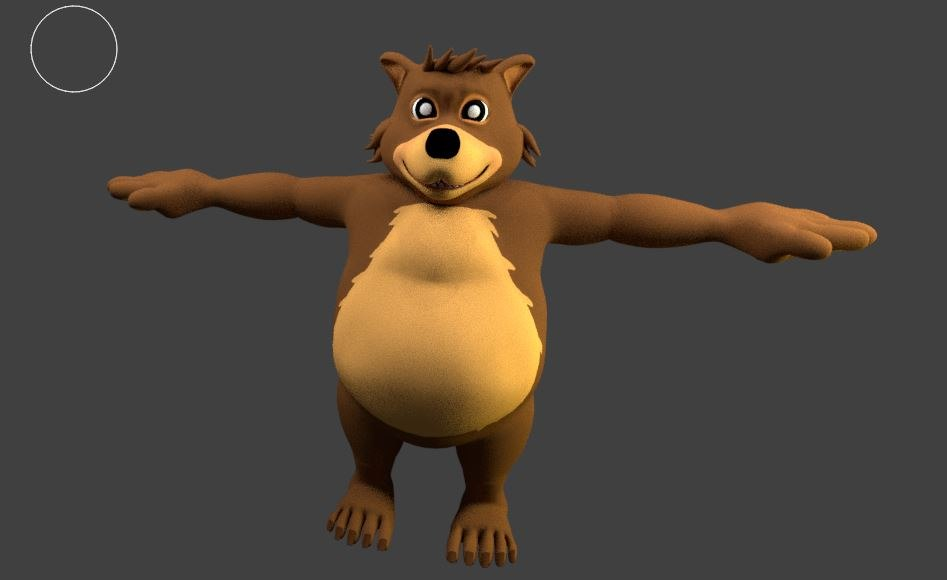 3d bear cartoon model