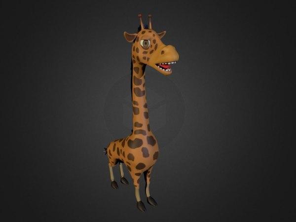 3d giraffe