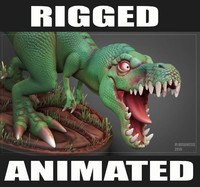 Cartoon T-Rex RIGGED&ANIMATED
