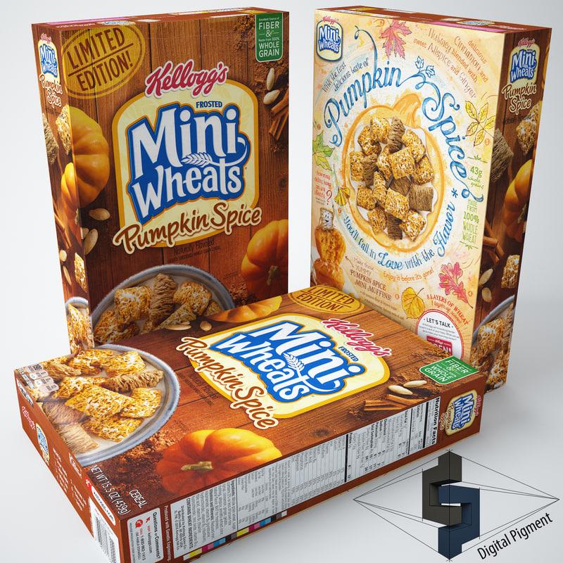 mini wheats pumpkin spice 3d max