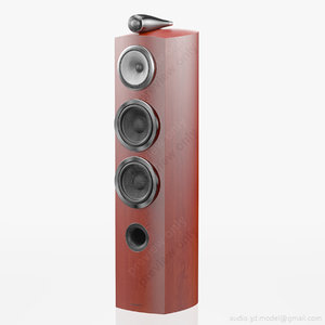 3d model floorstanding bowers wilkins 804