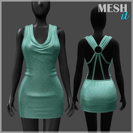 3ds dress green