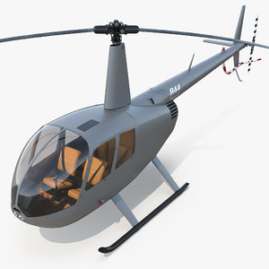 3d light helicopter robinson r44