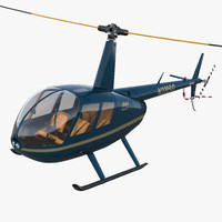 Light Helicopter Robinson R44 Rigged