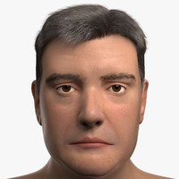 max realistic male head face