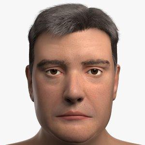 max realistic male head face
