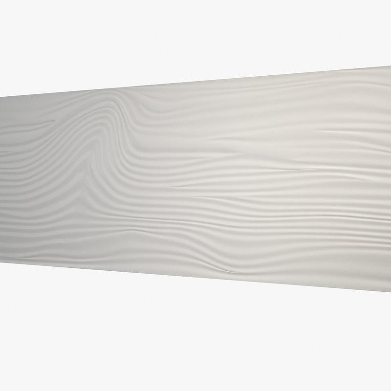 3d model wavy wall