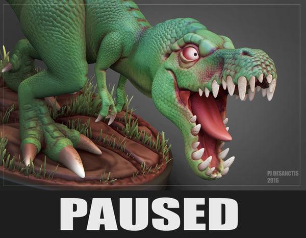 3d model t-rex print