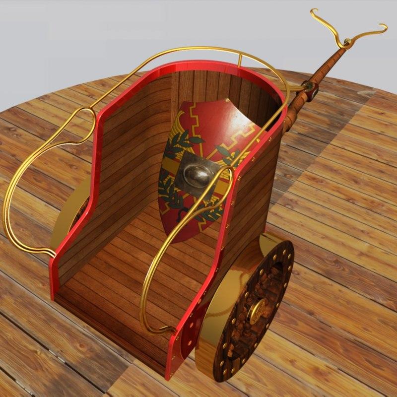 roman war chariot 3d max
