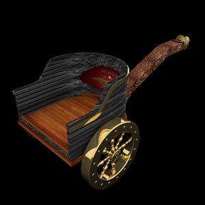 3d model roman chariot