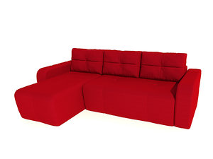 3d sofa renata pufetta red