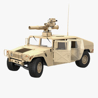 3d hmmwv tow missile carrier model