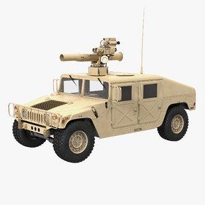 3d model hmmwv tow missile carrier