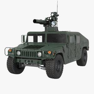 hmmwv tow missile carrier 3d c4d