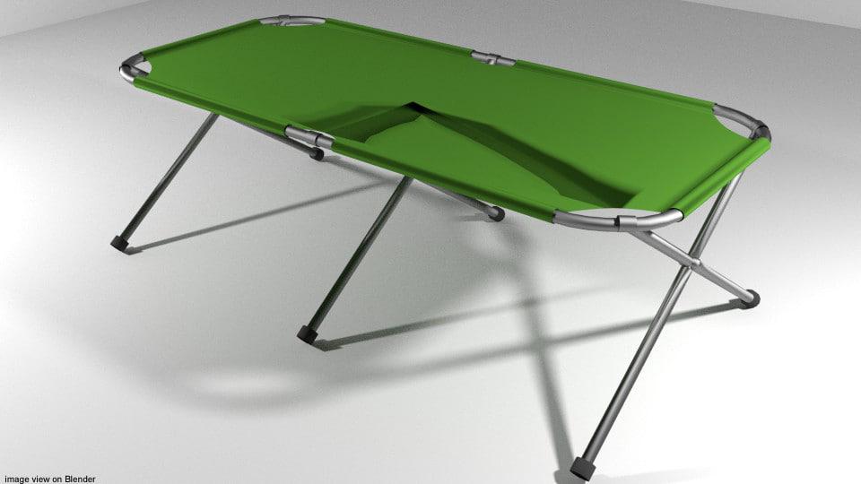 3d bed campbed model