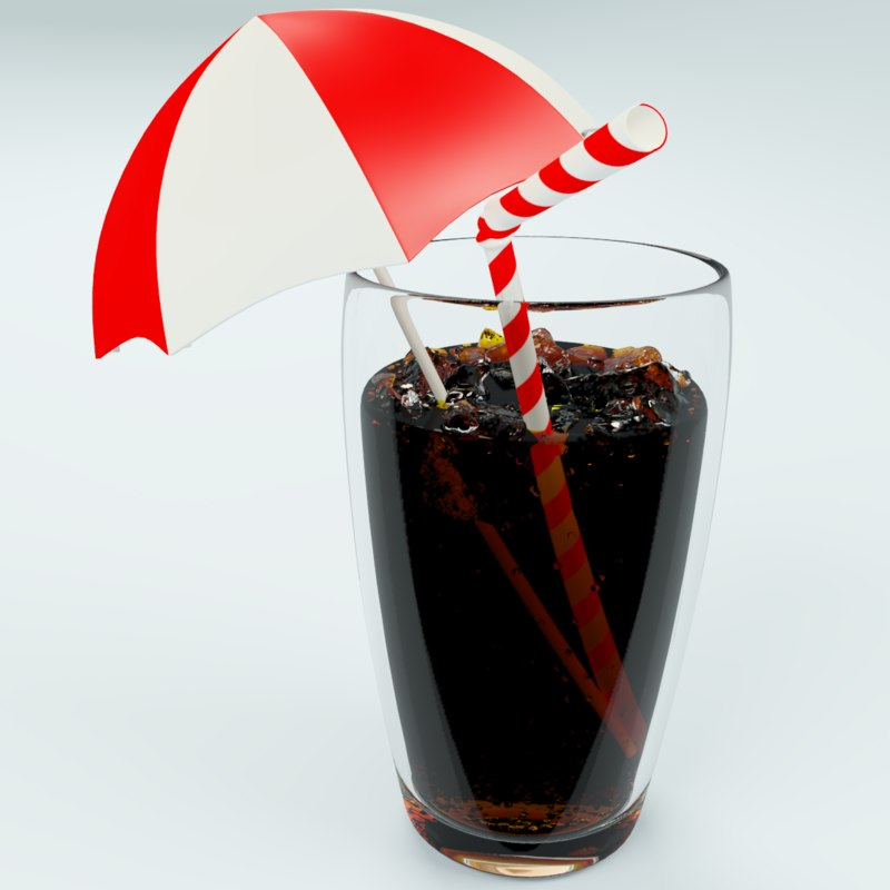 3d cola glass ice
