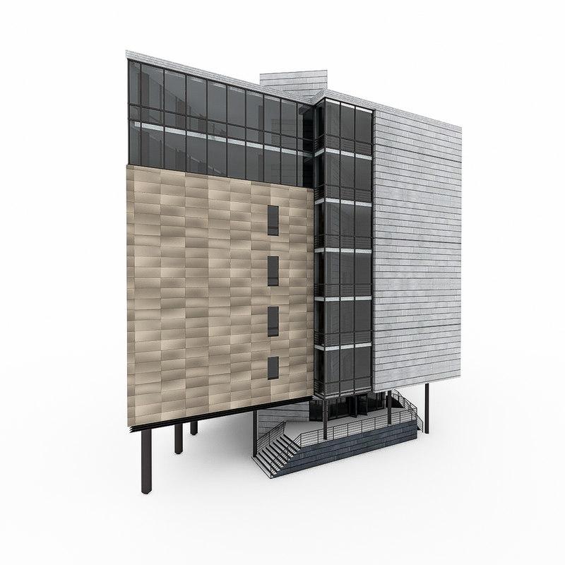 city office building obj