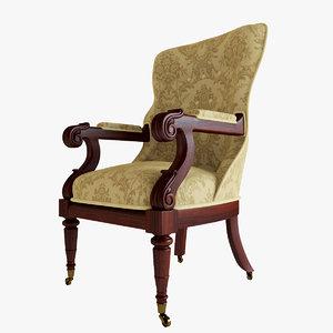 max rosewood spoon armchair