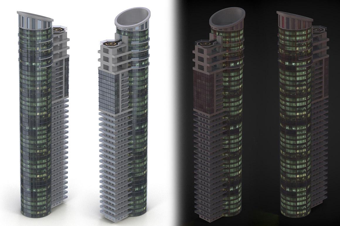 3d model skyscraper cityscape