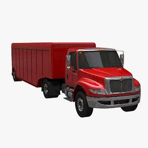 3d beverage truck trailer