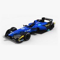 renault e dams formula 3d model