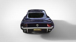 3d mustan gt 1967 model