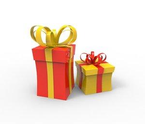 christmas gift cartoon 3d model