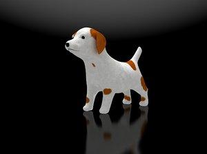 3d puppy jack russel