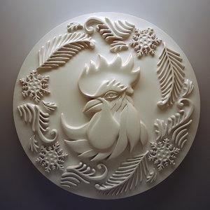 chicken patterns 3d model