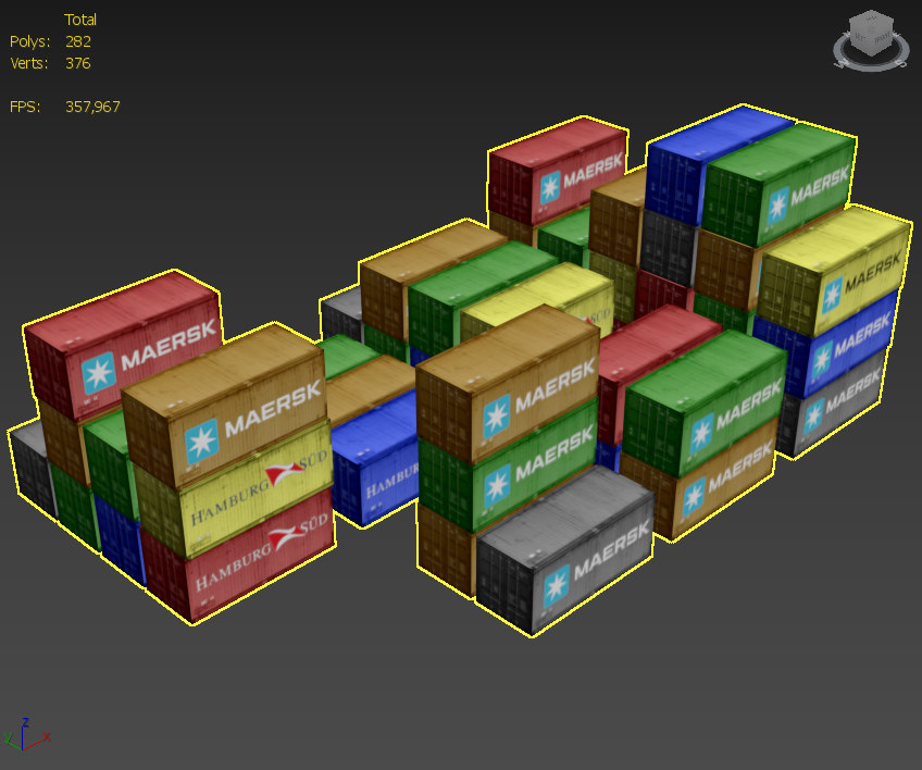 3d containers port