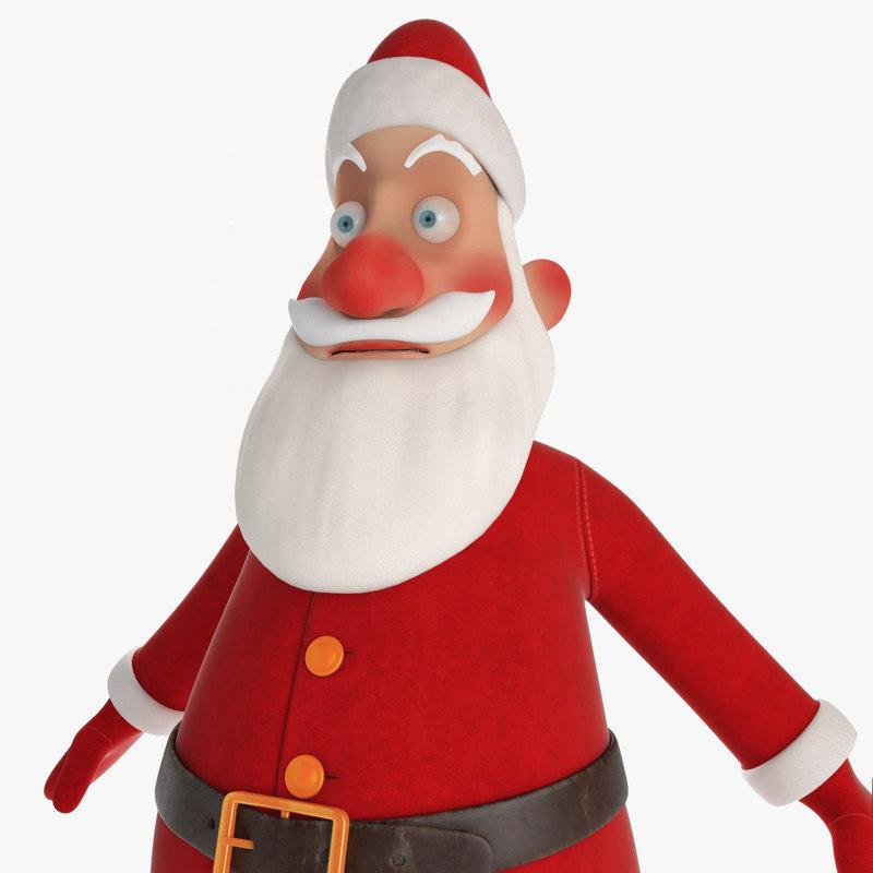 3d model santa claus cartoon character