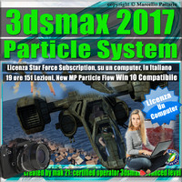 3ds max 2017 Particle System e Particle Flow Locked Subscription , un Computer.