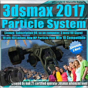 3ds max 2017 Particle System e Particle Flow Subscription 1 Computer