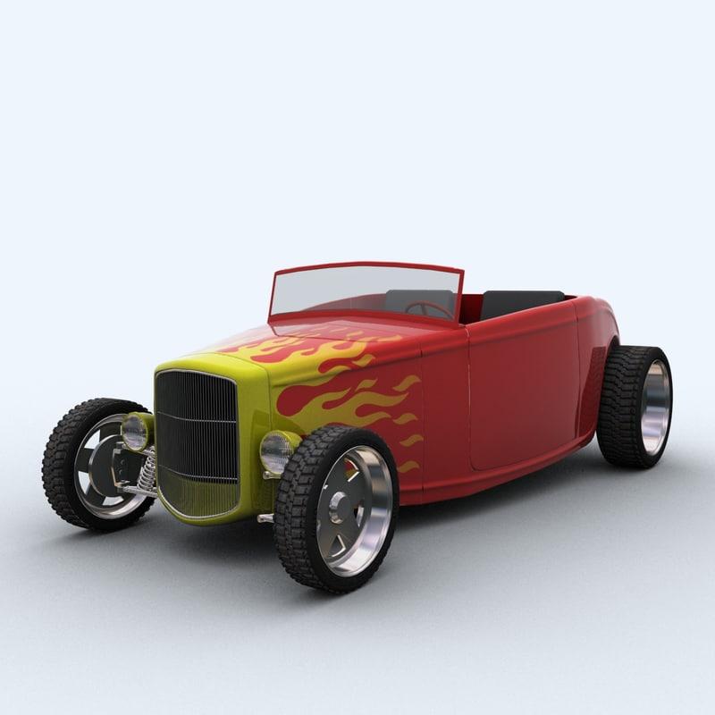 1932 roadster 3d max