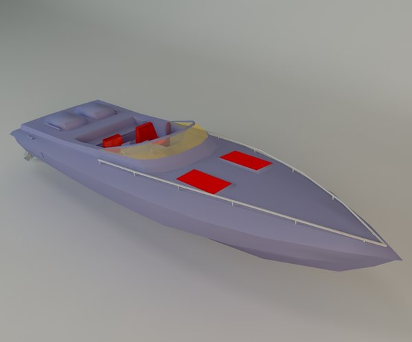 boat speedboat 3d max