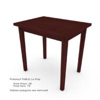 polished table 3d model