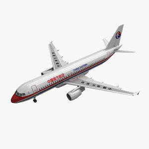airbus a320 china eastern 3d 3ds