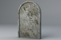 stone grave gravestone 3d model