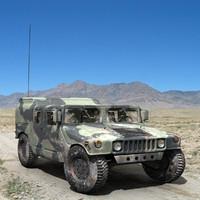 military humvee 3d model