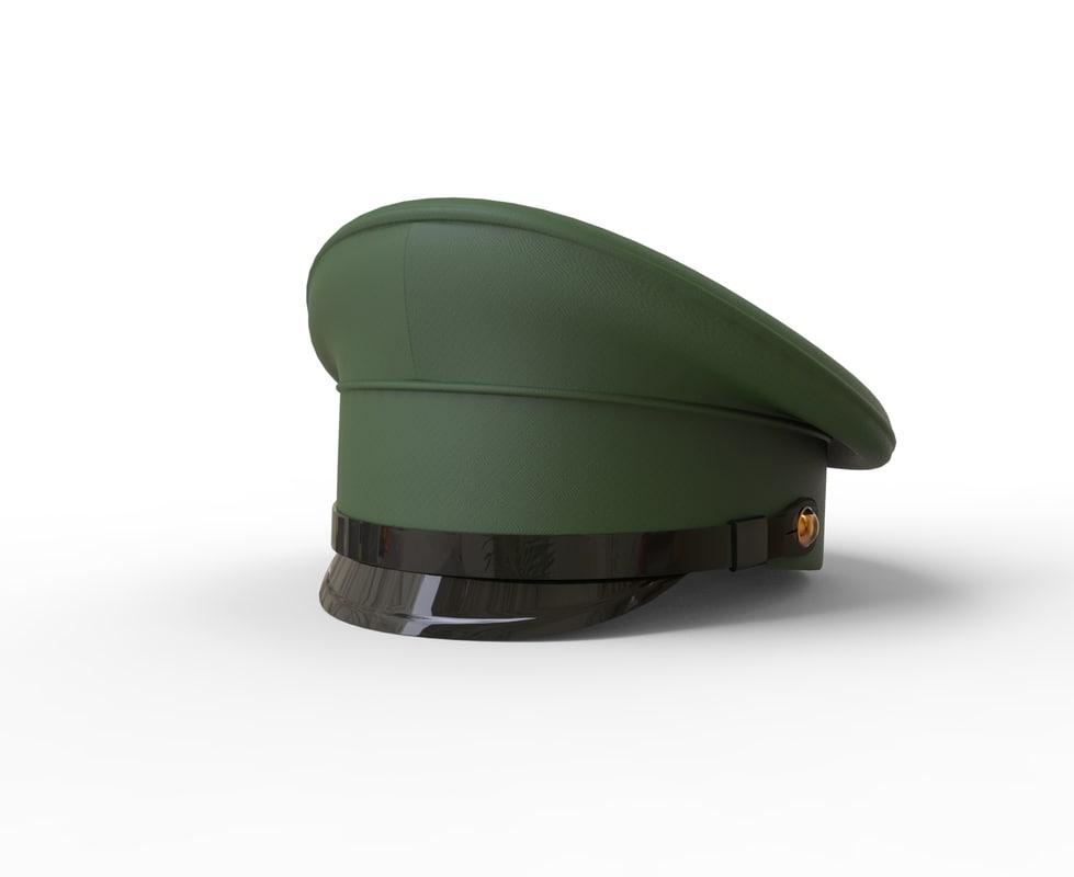 3d model cap military