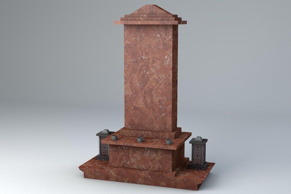 3d model ready grave gravestone