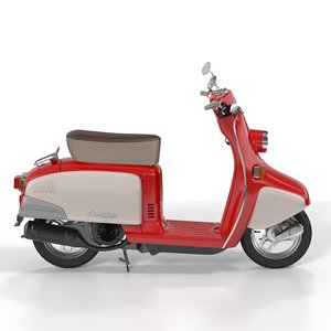 scooter honda 3d model