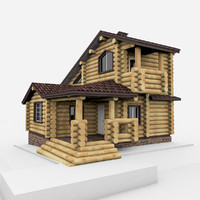 3ds wood house
