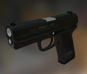 usp 45 cal pistol obj